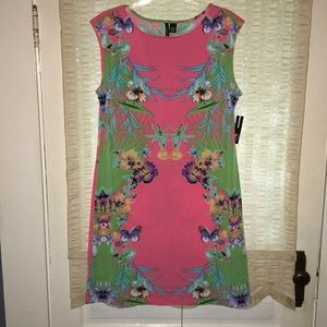 NWT New Directions coral print dress size 16